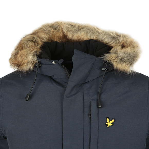 Lyle and Scott Mens Blue Winter Weight Microfleece Lined Parka main image