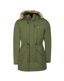 Lyle and Scott Mens Green Winter Weight Microfleece Lined Parka