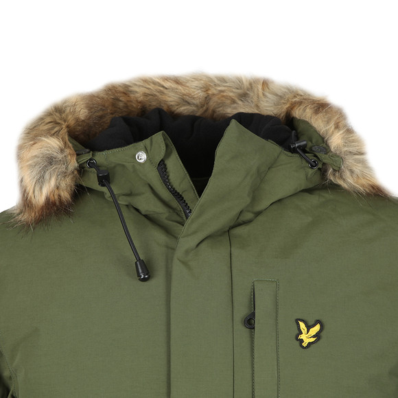 Lyle and Scott Mens Green Winter Weight Microfleece Lined Parka main image