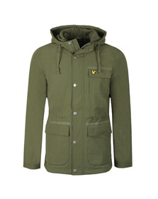Lyle and Scott Mens Green Micro Fleece Lined Jacket