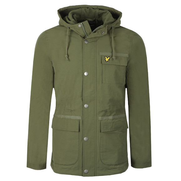 Lyle and Scott Mens Green Micro Fleece Lined Jacket main image