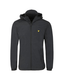 Lyle and Scott Mens Black Microfleece Lined Zip Through Jacket