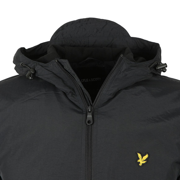 Lyle and Scott Mens Black Microfleece Lined Zip Through Jacket main image