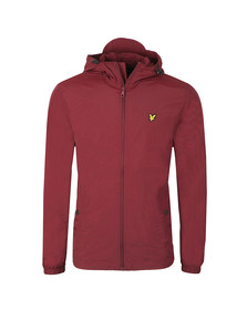 Lyle and Scott Mens Red Microfleece Lined Zip Through Jacket