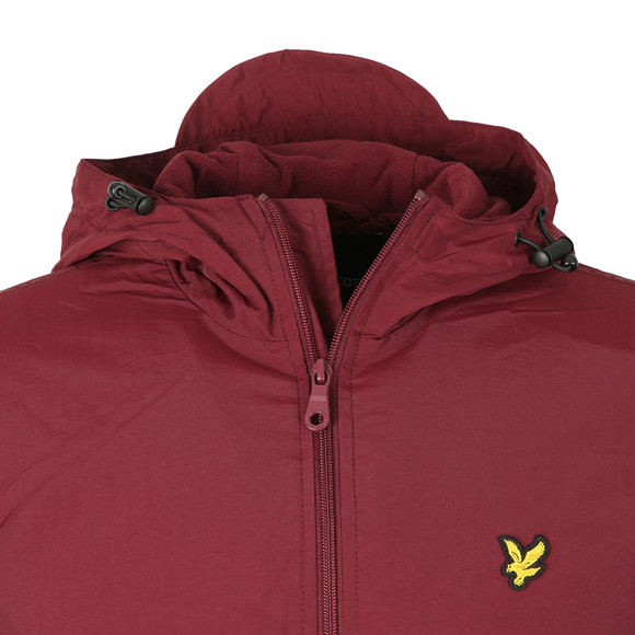 Lyle and Scott Mens Red Microfleece Lined Zip Through Jacket main image