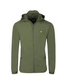 Lyle and Scott Mens Green Microfleece Lined Zip Through Jacket