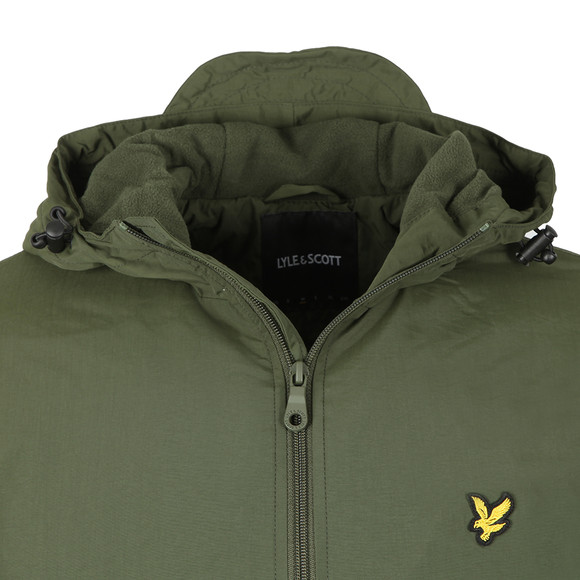 Lyle and Scott Mens Green Microfleece Lined Zip Through Jacket main image