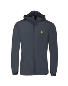 Lyle and Scott Mens Blue Microfleece Lined Zip Through Jacket