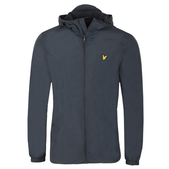 Lyle and Scott Mens Blue Microfleece Lined Zip Through Jacket main image