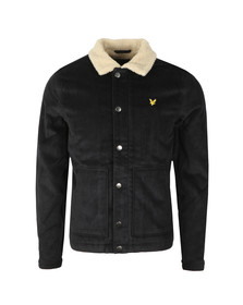 Lyle and Scott Mens Black Jumbo Cord Shearling Jacket