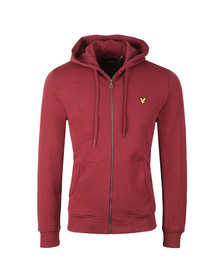 Lyle and Scott Mens Red Zip Through Hoodie