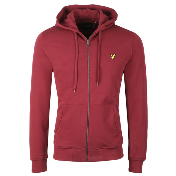 Lyle and Scott Mens Red Zip Through Hoodie main image