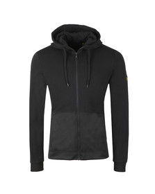 Lyle and Scott Mens Black Fabric Mix Zipthrough Hoodie