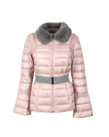 Ted Baker Womens Pink Yelta Faux Fur Collar Down Jacket