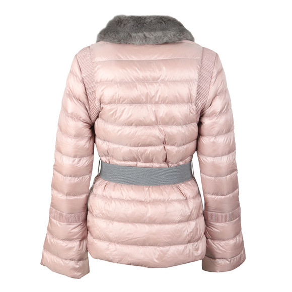Ted Baker Womens Pink Yelta Faux Fur Collar Down Jacket main image