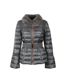 Ted Baker Womens Grey Yelta Faux Fur Collar Down Jacket