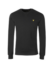 Lyle and Scott Mens Black Crew Neck Sweatshirt