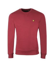 Lyle and Scott Mens Red Crew Neck Sweatshirt