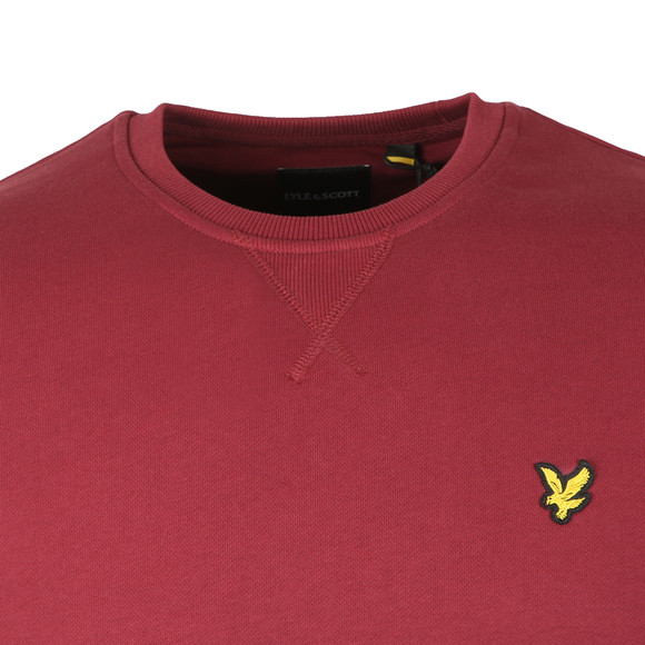 Lyle and Scott Mens Red Crew Neck Sweatshirt main image
