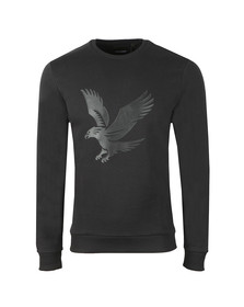 Lyle and Scott Mens Black Logo Sweatshirt