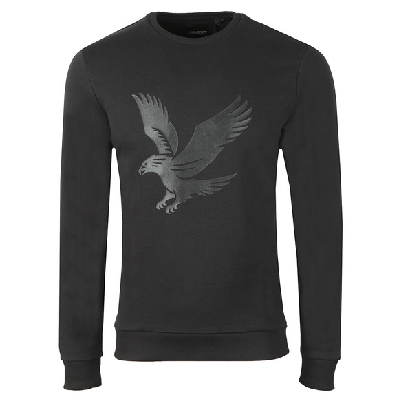 Lyle and Scott Mens Black Logo Sweatshirt main image