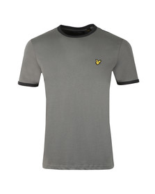 Lyle and Scott Mens Grey Ringer T-Shirt