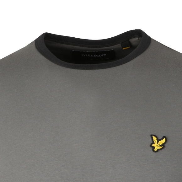 Lyle and Scott Mens Grey Ringer T-Shirt main image