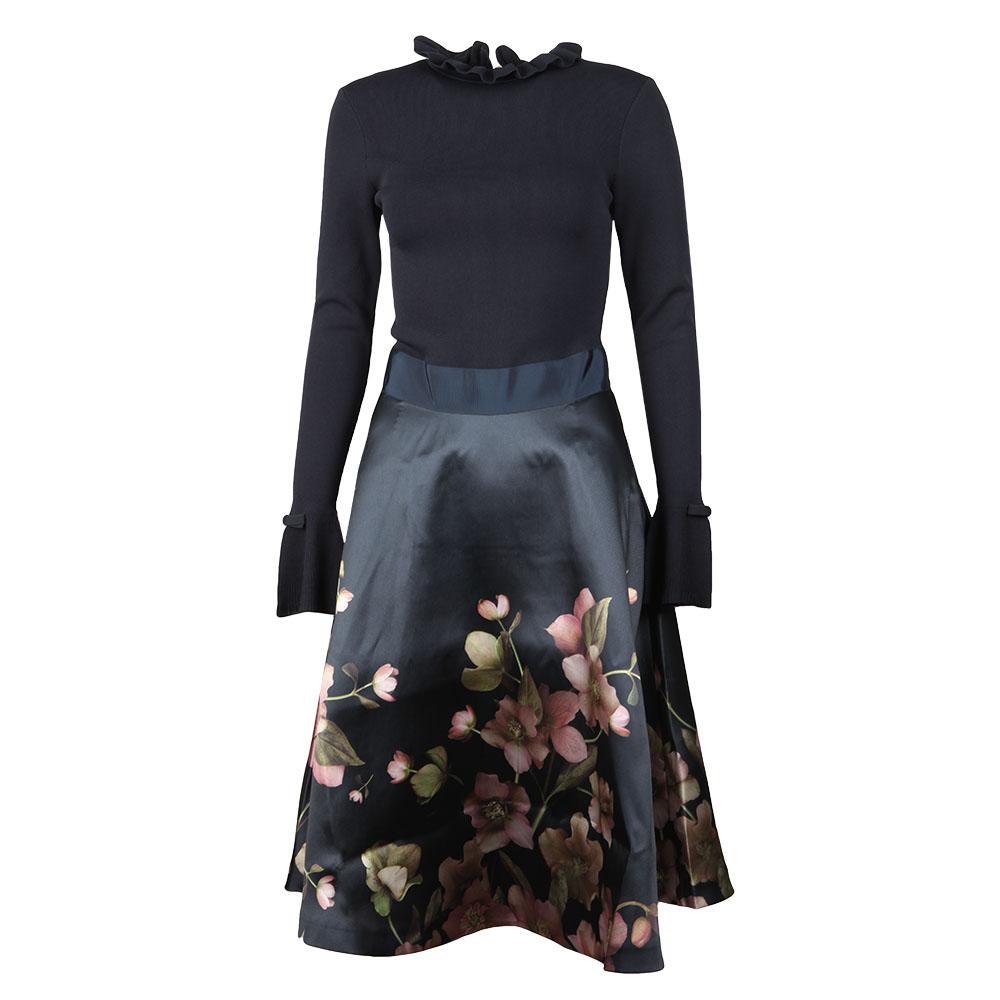 7e06648cd Ted Baker Seema Arboretum Knitted Bodice Dress