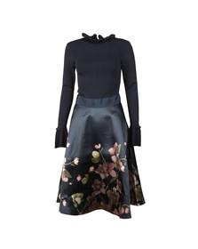 Ted Baker Womens Blue Seema Arboretum Knitted Bodice Dress