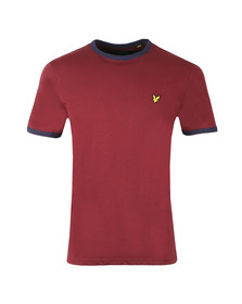 Lyle and Scott Mens Red Ringer T-Shirt