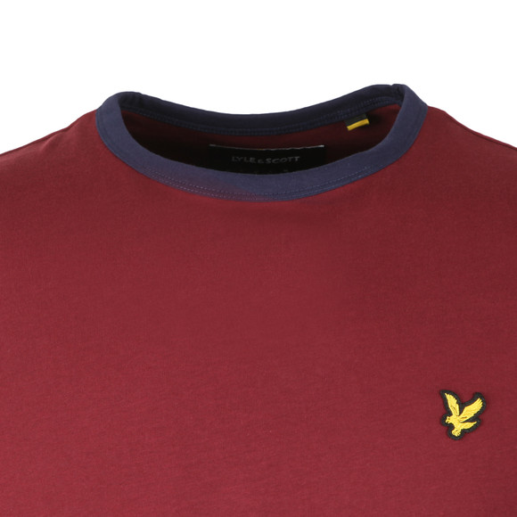 Lyle and Scott Mens Red Ringer T-Shirt main image