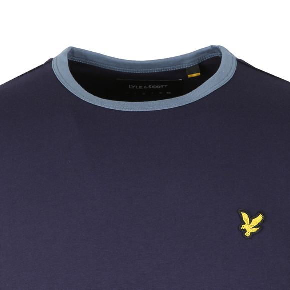 Lyle and Scott Mens Blue Ringer T-Shirt main image