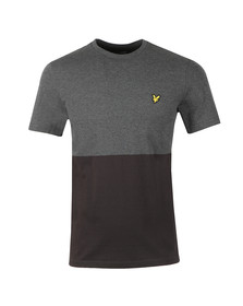 Lyle and Scott Mens Black Block Marl T-Shirt