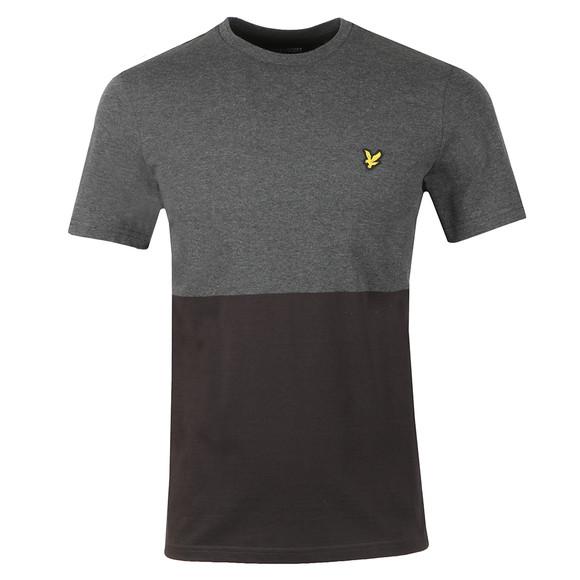Lyle and Scott Mens Black Block Marl T-Shirt main image