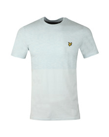 Lyle and Scott Mens Blue Block Marl T-Shirt
