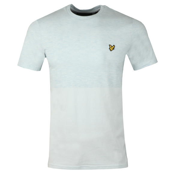 Lyle and Scott Mens Blue Block Marl T-Shirt main image