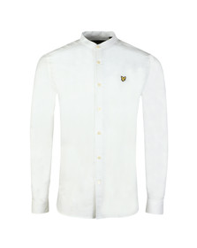 Lyle and Scott Mens White L/S Grandad Shirt