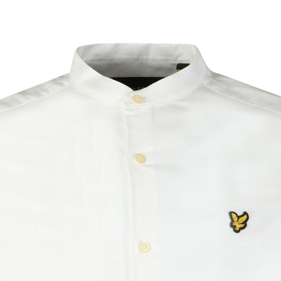 Lyle and Scott Mens White L/S Grandad Shirt main image