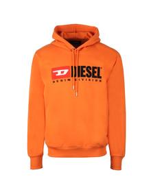 Diesel Mens Orange Division Hoody