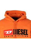 Diesel Mens Orange Division Hoody