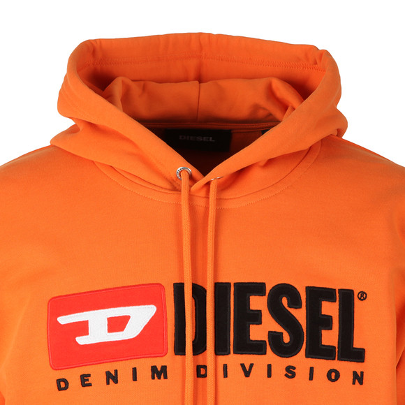 Diesel Mens Orange Division Hoody main image