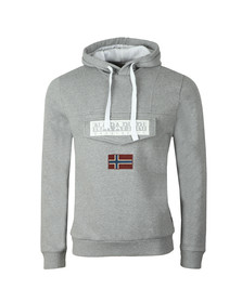 Napapijri Mens Grey Burgee 2 Hooded Sweat