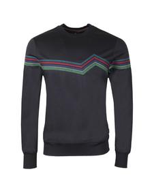 PS Paul Smith Mens Blue Pattern Sweatshirt