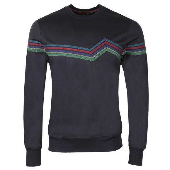 PS Paul Smith Mens Blue Pattern Sweatshirt main image