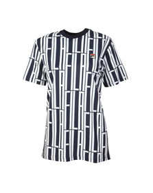 Fila Womens Blue Lia All Over Print T Shirt