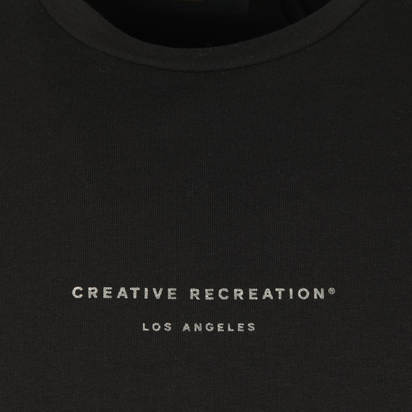 Creative Recreation Mens Black Utopia Sleeve Tape T-Shirt main image