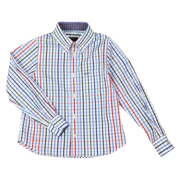 Paul & Shark Boys White Multi Check Shirt