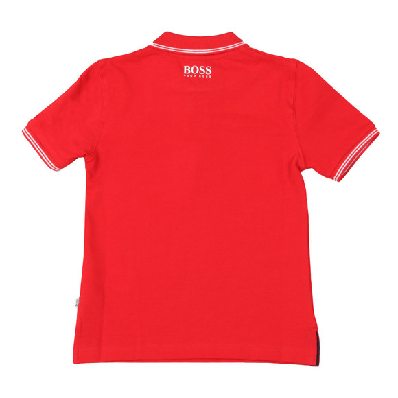 BOSS Loungewear Boys Red Circle Logo Polo Shirt main image