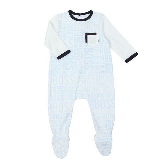 BOSS Bodywear Boys White Baby J97131 All In One main image