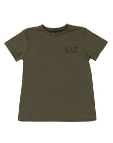 EA7 Emporio Armani Boys Green Small  Logo T Shirt